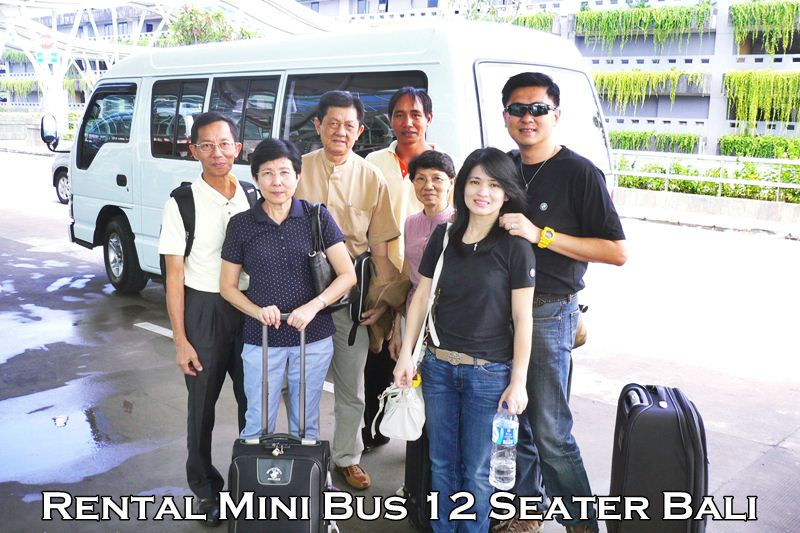 Charter Mini Bus 12 Seats Singapore Visitor in Bali